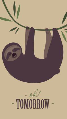 Nursery Wallpaper, Animal Wallpaper, Wallpaper Backgrounds, Iphone Wallpaper, Wallpapers, Cute Sloth Pictures, Baby Sloth, My Spirit Animal, Animal Nursery