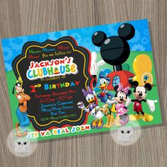 Mickey Mouse Clubhouse Invitation, Mickey Mouse Birthday, Mickey Mouse Clubhouse…