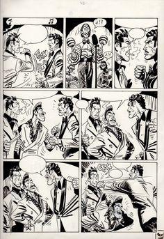 Comic Book Pages, Comic Page, Comic Books Art, Geof Darrow, Bd Art, Jordi Bernet, Alex Toth, Alternative Comics, Fighting Poses