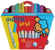 Giotto Be-Be flomasteriai vaikams 12 vnt. Fiber, Girly, Giveaway, Group, Pens, Fantasy, Decorating Cakes, Sharpies, Plushies