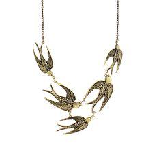 'ZAD Five Bird Necklace | little Black Bag