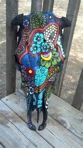painted cow skulls - Yahoo Image Search Results