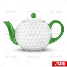 Ceramic Teapot In Golf Ball Style