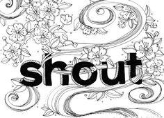 Shout by m5 Design Studio. #Typography #Sketchbook