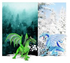 """dragon war"" by dogsaver120 ❤ liked on Polyvore featuring art"