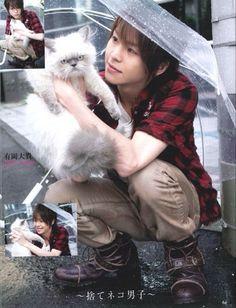 Kindly Daiki & Angry(?) cat. haha!