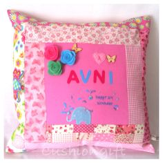 Girls handmade cushion