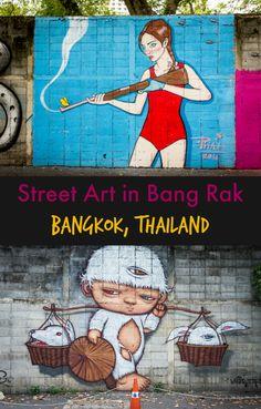 Vibrant street art in the Bang Rak and Talat Noi neighborhoods of Bangkok, Thailand | 48 Hours in Bangkok, Thailand