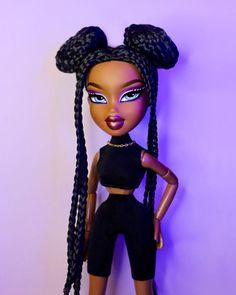 Black Girl Cartoon, Black Girl Art, Black Girl Magic, Bratz Doll Outfits, Black Bratz Doll, Brat Doll, Bratz Girls, Creative Eye Makeup, Photoshoot Themes
