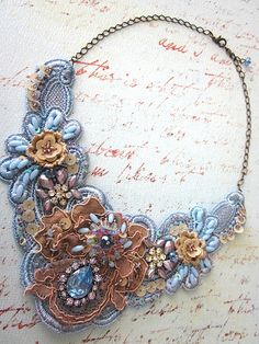 Lavender and mauve necklace