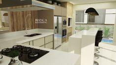 Render - Social Casa ninho - cozinha integrada com churrasqueira