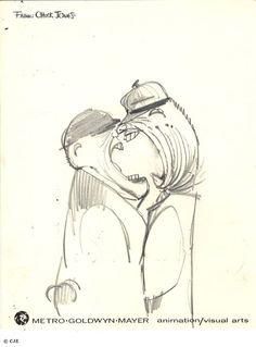 America's pastime (sketch by Chuck Jones)