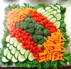 Simple veggie tray for 20-30