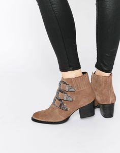 Image 1 ofASOS REBEL Western Ankle Boots