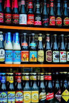 Belgian Beer Store in Ghent, Belgium