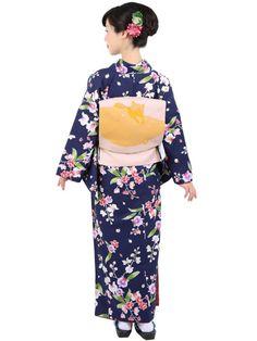 Washable Kimono 《小紋着物 袷 14A》きもの初めてさんにおすすめなカジュアル小紋の袷着物です。 紺地に胡蝶蘭をあしらった上品なデザインです。 一般的に10月~5月にお召しいただける袷の着物になります。 カフェ巡りやお食事会をはじめ、普段着として幅広くお召しいただけます。 素材は、自宅でも気軽に洗えるポリエステル着物のため 気兼ねなくお出かけいただけます。 着物の単品販売です。 お仕立済商品ですので、お届け後すぐにご着用いただけます。