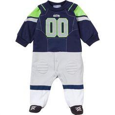 Baby Seahawks Fan Football Uniform Coverall