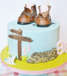 Country walks - Cake by Roo's Little Cake Parlour 7 Cake, Cake Art, Cake Cookies, Cupcake Cakes, 70th Birthday Cake, Birthday Cakes For Men, Little Man Cakes, Mountain Cake, Nature Cake
