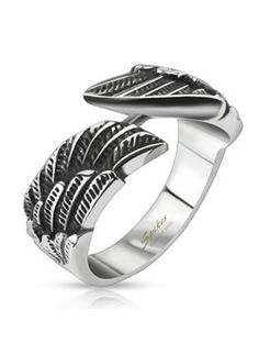 Stainless Steel Angel Wing Cast Band Ring, Width 9MM - Crazy2Shop Crazy2Shop, http://www.amazon.com/dp/B00J5NP2QK/ref=cm_sw_r_pi_dp_fKb3ub04CHTXV