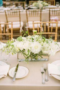 Simple. Dragonfly Floral. Photography: Matt Edge Wedding Photography - mattedgeweddings.com Read More: http://www.stylemepretty.com/2014/02/21/elegant-healdsburg-wedding-at-barndiva/