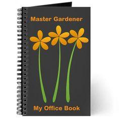 Master Gardener Florist Nature Hobby Journal, editable text, personalized gift #orange #flower