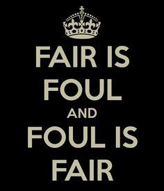 Foul is fair and fair is foul.. hover trough the fog and filthy air. Macbeth 1er Acto - Buscar con Google