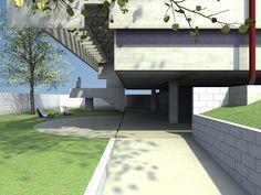 SANTIAGO CARVAJAL: Residencia Butantã de Mendes da Rocha renders