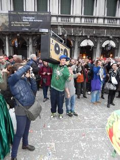 Carnivale of Venice 2014 - LOL too funny. Not your typical venitian costume.
