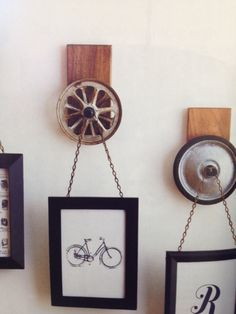 Idea for old film reels instead of old wheels.