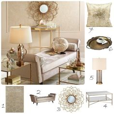 Metallic Home Furnishings From Lamps Plus