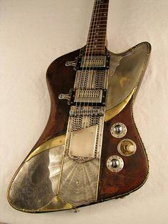 Steampunk custom guitar