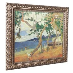 'By the Seashore Martinique' by Paul Gaugin Ornate Framed Art