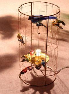 Lampe cage à poser by Mathieu Chalières