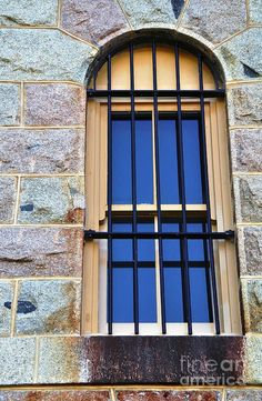 Barred Window - Trial Bay Jail - Prints available at: kaye-menner. Line Photography, Photography Courses, Window Design, Building Design, Prison, Paths, Layout, Exterior, Windows