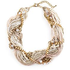 Leslie Danzis Mixed Media Torsade Necklace...i have this but the beads are in shades of corals, peaches, golds.