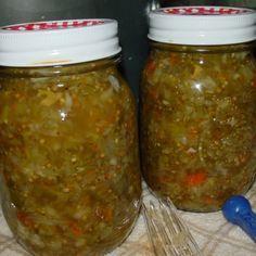 Piccalilli or Green Tomato Relish Recipe | Just A Pinch Recipes