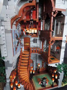 The Brothers Brick Lego Haunted House, Lego House, Legos, Pokemon Lego, Lego Halloween, Lego Sculptures, Amazing Lego Creations, All Lego, Lego Castle