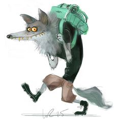 Hi there I'm a freelance illustrator from Berlin. I am working on character designs, children`s. Wolf Illustration, Character Illustration, Animal Drawings, Cute Drawings, Sketch Manga, Character Art, Character Design, Illustrator, Creature Design