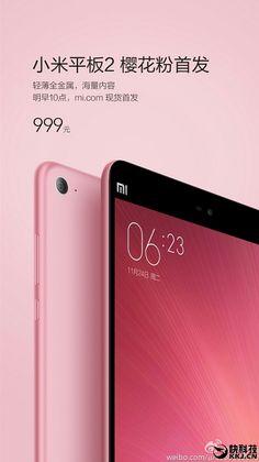 Mola: La Xiaomi Mi Pad 2 deja el oro y el plata para vestirse de rosa