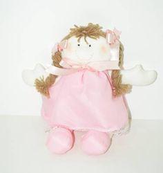 boneca de pano fofinha - pequeninos neide arte