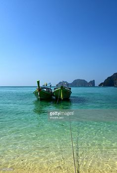 Seascape with longtail boat on Ton Say Bay at Koh Phi Phi Don island, Thailand, Asia. #getty #thailand #image #photo #www.vincent-jary.fr #travel #island #paradise #paradisiac #turquoise