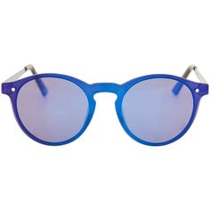 TopShop Lunar Rimless Preppy Sunglasses (€33) ❤ liked on Polyvore featuring accessories, eyewear, sunglasses, blue, vintage eyewear, preppy sunglasses, vintage glasses, round sunglasses and blue round sunglasses