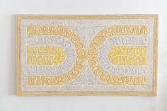 Original Acrylic and Sand on Canvas  'Toltec Arcs' by Howard Conant