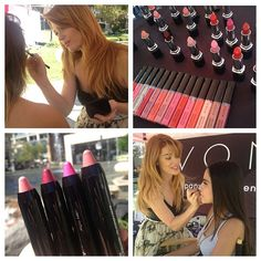Launching #AvonMakeup with touch ups and tips at the You Make It Beautiful Kick Off Event in LA.