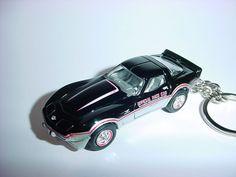 Transportation Cheap Sale New 3d Black 1978 Chevrolet Corvette Custom Keychain Keyring Key Vette Bling!!!