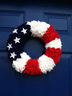 Patriotic Wreath by prettythingspro on Etsy, $60.00