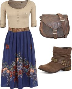 """Country days."" by kristina-norrad ❤ liked on Polyvore"