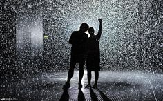 """Rain Room"" interactive art installation realised by Random International"