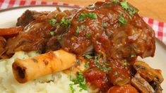 These slow-cooked lamb shanks are so tender and succulent, the meat will fall off the bone! Slow Cooked Lamb Shanks, Braised Lamb Shanks, Jamie Oliver, Lamb Shank Recipe, Medium Recipe, Cooking Sauces, Lamb Dishes, Creamy Mashed Potatoes, How To Cook Potatoes