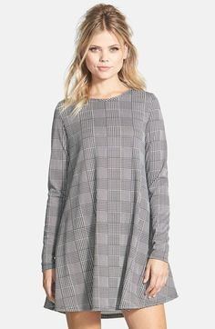 GLAMOROUS Long Sleeve Shift Dress available at #Nordstrom